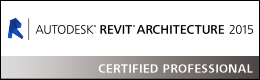 Mogens er Revit Architecture 2015 Certified Professionel