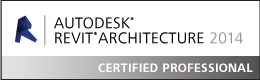 Mogens er Revit Architecture 2014 Certified Professionel